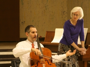 Evan Drachman and Doris Stevenson, school concert - NM