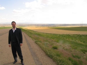 Thomas Hoppe in an Oklahoma plain